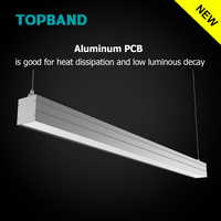 4ft 1200mm Streamline I LED Linear DLC ETL CE certified Indoor Lighting Dimmable Light for Office Lighting with CE RoHs