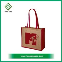 High Quality Red Wine Tote Jute Bag