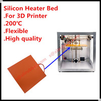 Custom Made 240V 600 x 600MM 500W Silicone Rubber Heated Hot Bed/Pad/Mat/Plate For 3D Printer Accessories