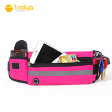Wholesale sports running waist bag with bottle mobile phone holder