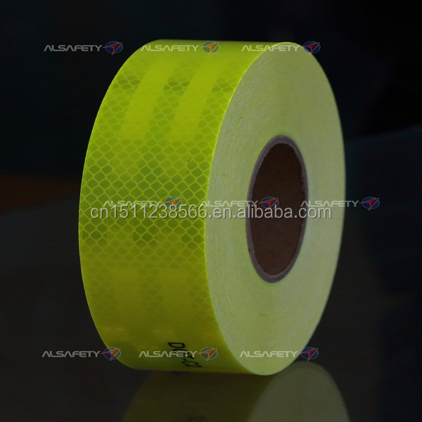 ACP100 fluenrescent yellow-green school bus reflective safety tape
