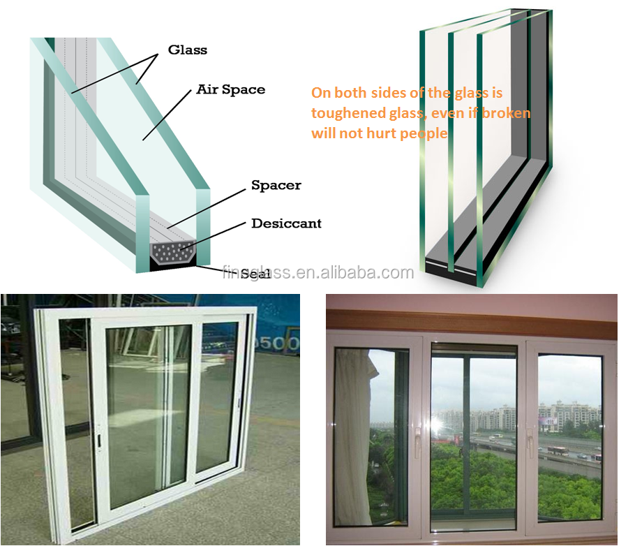 Used commercial windows double tempered building insulated for High insulation windows