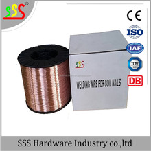 copper coated mild steel welding wire for coil nails 0.7mm(Skype:helenlee558)