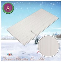 Parallel Curves Coarse Touch Surface Treatment Beautiful Wall Panel PVC Ceiling Panel