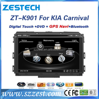 ZESTECH support mp3 player/digital TV/audio/stereo/gps navigation for kia carnival car TV