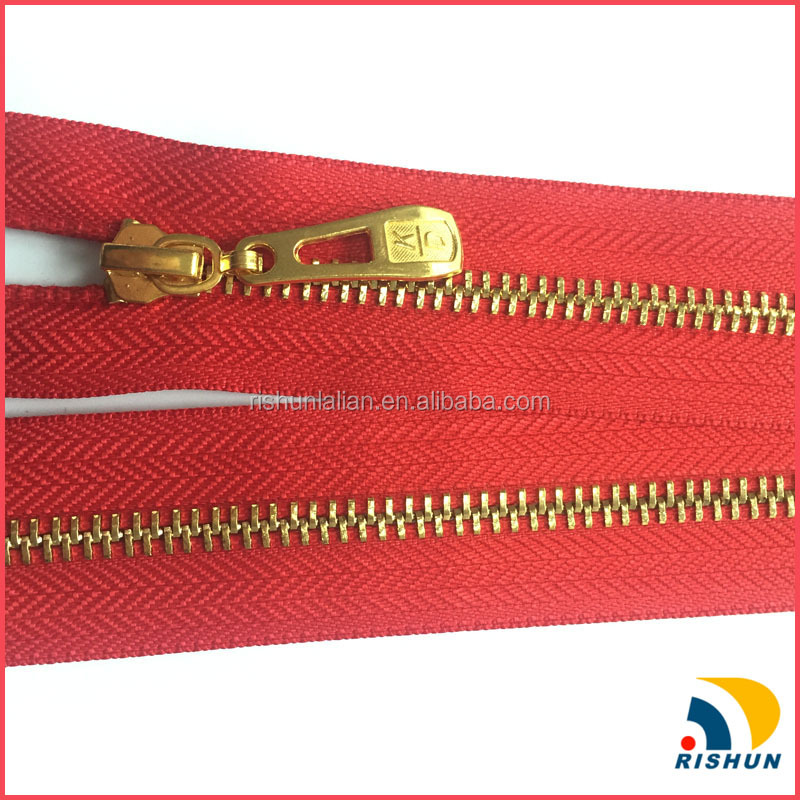 high quality mental zipper teeth with zinc alloy slider for clothing