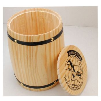 2017 High quality cheap price small round wooden coffee box for superseptember