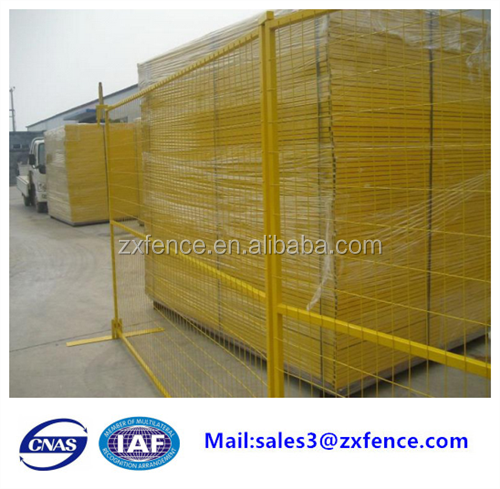 Alibaba trade assurance hot dipped and galvanized pvc coated Canada temporary fence