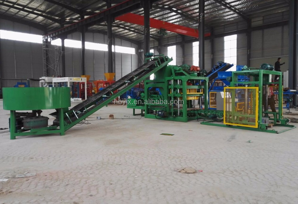 hourdis concrete block machine QTJ4-25 Stationary brick making machine