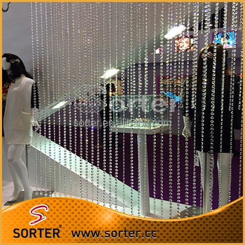 Fashion elegant crystal bead curtain for wedding/home/shop/hoteldecoration
