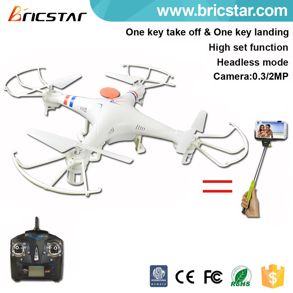 High set function can selfie 2.4G rc drone quad x copter with hd camera