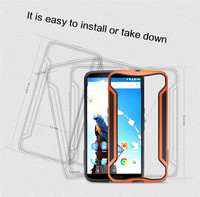 Nexus 6 Case,Nillkin [TPU+PC Material]Armor-Border series Sleek Slim Frame Bumper Hard Case Cover for Moto Nexus 6