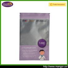 Custom Logo Surface Zipper Top Sealing slide zip lock plastic bag