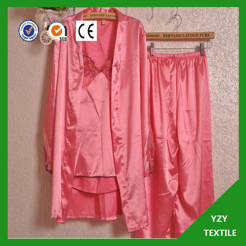 Satin fabric for satin robe made from polyester fiber from Keqiao