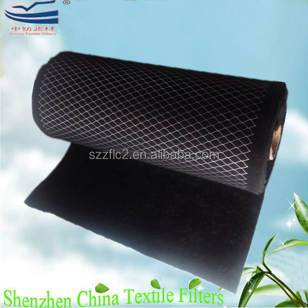 Coconut shell activated carbonized air filter roll material