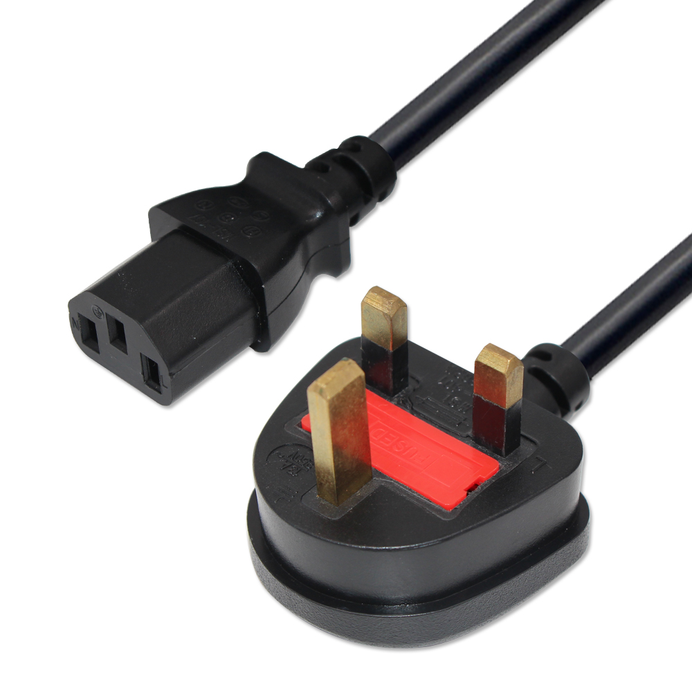 5ft 13a Uk 3pin Standard Power Plug To Iec C13 Ac Cord Cable Plugs Bs1363 Old Colour Wiring How Wire A Type 3 Pin