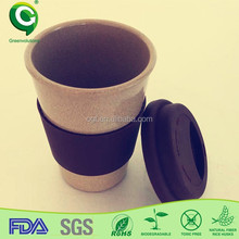 Christmas gift organic rice husk fiber wooden coffee cup