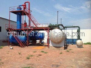 Hight Efficient waste engine/tyre/plastic oil refinery/distillation/recycling machine