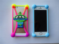 OEM 3D cartoon Back Universal silicone cell mobile phone border case cover