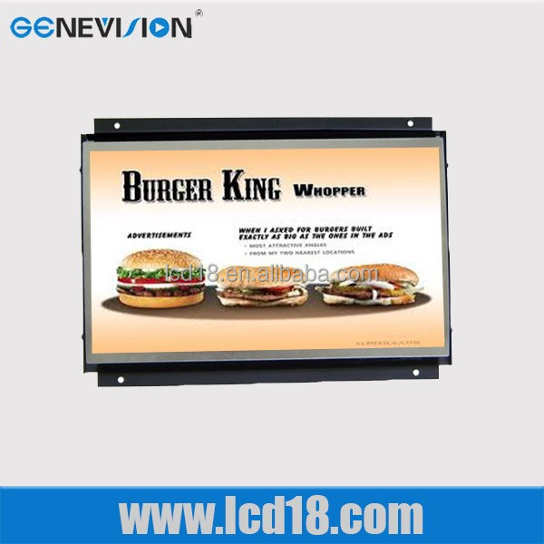 24 inch frameless lcd monitor with rca input media player for advertising (M0-240-S)