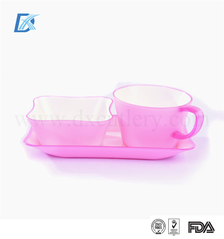 The Most Popular China Supplier Lovely Pink Good Quality Plastic Aviation Tableware