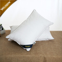China factory wholesale white square hotel textile bedding goose down like feather pillow