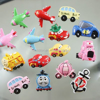 Cartoon Bus Animal Food Resin Brooch