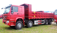 Sinotruk 380hp manual transmission howo Sand tipper truck for sale