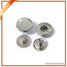 Fashion press custom metal snap button jewelry