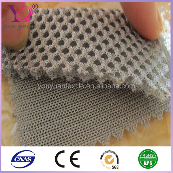 Polyester dyed bed mattress upholstery 3d air mesh fabric