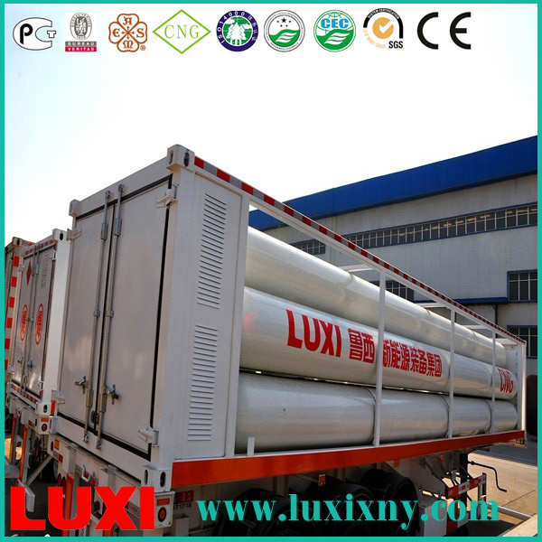 cng tube cylinder 25Mpa cng tube trailer gas fuel tanks , fiberglass cng cylinder