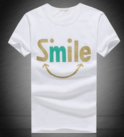 smile lovely happy cheap printed costom couples tshirts