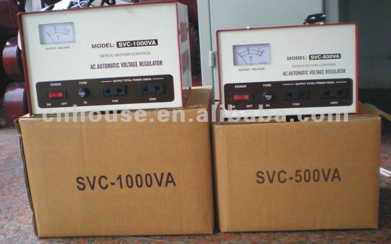 Surge protection AC voltage stabilizer SVC-1000VA