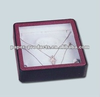2014 hot product custom red paper jewelry display transparent box