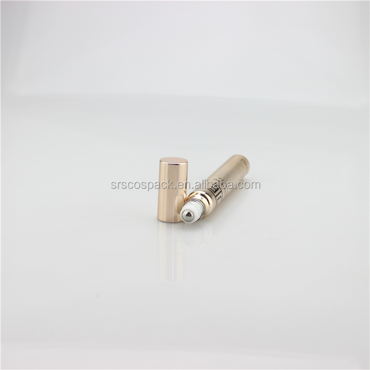 SRS luxury glass 15 ml rose gold roller bottles