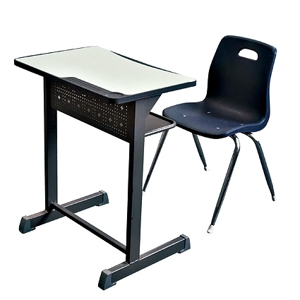 SF-24S School Furniture Wood and Plastic Desk and Chair Set For Sale Classroom Student Table