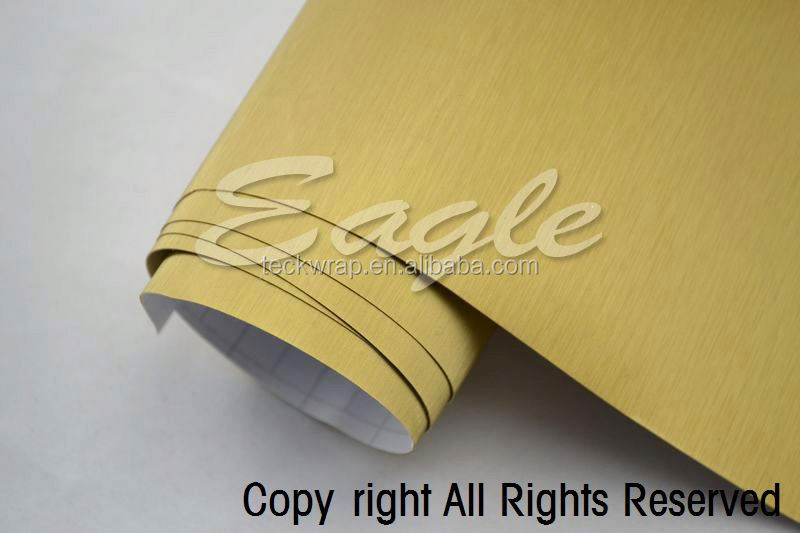 Matte Face Film, Colorful Cutting Vinyl, Brush Gold Sign Cutting Vinyl