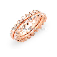fashion 24k solid gold ring wholesale NSRI-10011
