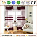 good quality wine red polyester voile fabric curtain