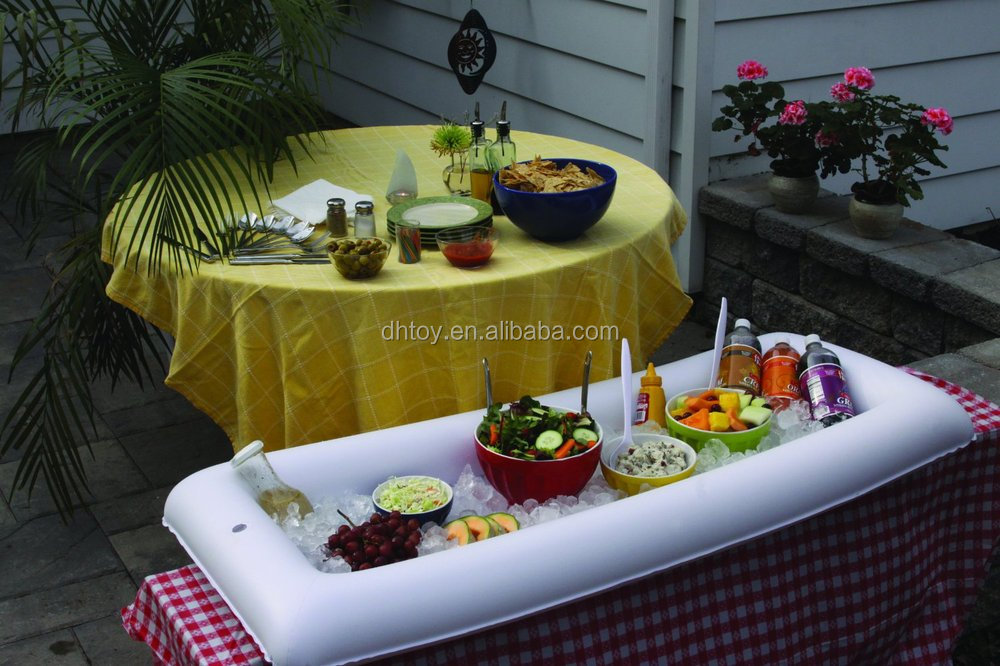 serving inflatable salad bar and buffet cooler