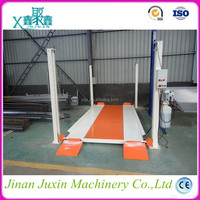 Four Column Hydraulic 2 level parking car lift garage used Car Parking Lift