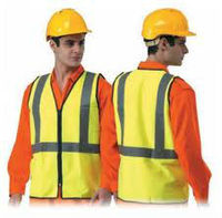 Workwear with high visibility vest
