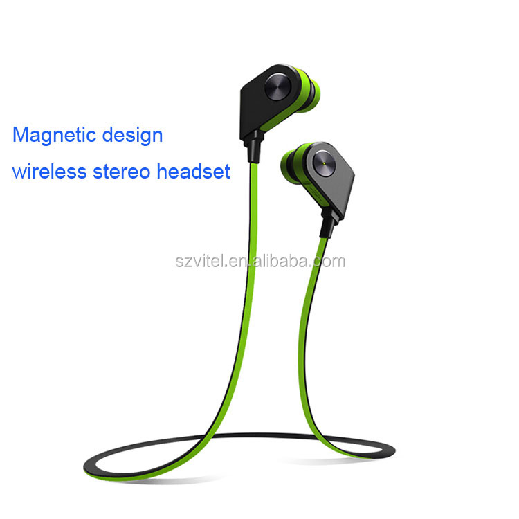 Mobile phone wireless headset with micro USB charging bluetooth hifi earphone
