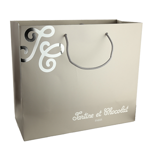 Custom made luxury paper shopping gift bag