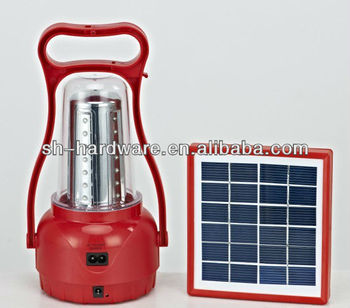 35 leds solar portable light with 6V 2W Solar panels