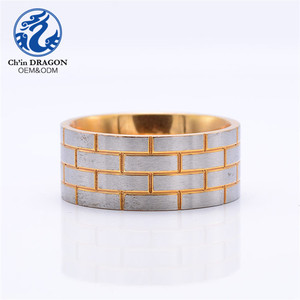 10 K 14 Gold Band Ring 10K Gold Mens Wedding Stainless Steel Ring Jewelry