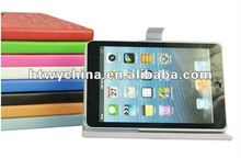 For ipad mini White Smart Cover Leather Case Fold Magnetic Stand Holder