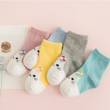 Spring New Cute Cartoon Animal Cotton Socks Young Girls Children Tube Socks For4-<strong>10</strong> <strong>Y</strong>