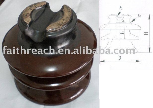 15kv high voltage pin type porcelain insulator