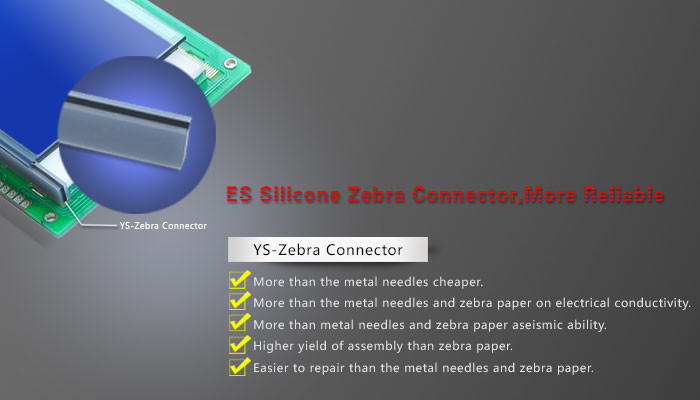 OEM Low Resistance Silicone Rubber Zebra Elastomeric Connectors